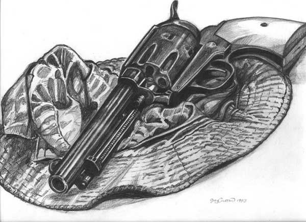 Gun Pencil Drawings Hat With Gun Drawing Image